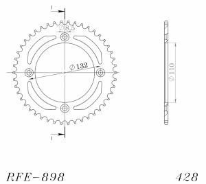 Supersprox Racing steel drawings